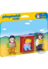 Playmobil 1,2,3 Padres con Bebé