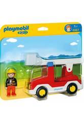 Playmobil 1,2,3 Camión de Bombero 6967