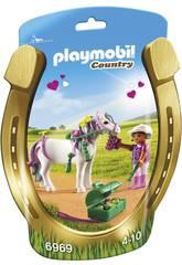 Playmobil Jinete con Poni Corazón 6969