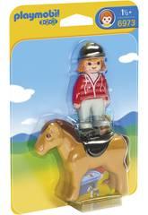 Playmobil 1,2,3 Cavaleiro com Cavalo 6973