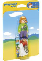 Playmobil 1,2,3 Mujer con Gato 6975