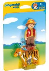 Playmobil 1,2,3 Adiestrador con Tigre 6976