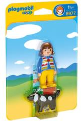 Playmobil 1,2,3 Mujer con Perro 6977