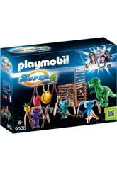 Playmobil Guerrero Alien Con Trampa T-Rex 9006