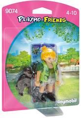 Playmobil Figura Cuidadora con Bebé Gorila