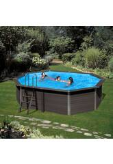 Schwimmbecken Holz Gre Composite Pool 524x386x124 cm.