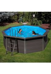 Schwimmbecken Holz Gre Composite Pool 410x124 cm.