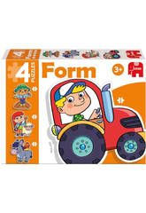 Pädagogisches Puzzle Kinder Form Farm Baby