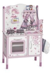 Holzküche Puppen mit Zubehör Maria 90x68x47 cm DECUEVAS 54617