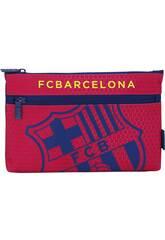 Astuccio portapenne 2 cerniere grande F.C. Barcelona ufficiale