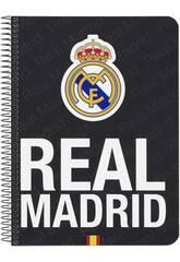 Libreta Tapas Duras 80 h. Real Madrid Oficial