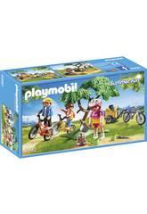 Playmobil Cyclistes avec Vélos et Remorque 6890