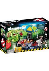 Playmobil Bouffe-tout avec Stand de Hot-dog Ghostbusters 9222