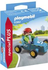 Playmobil Niño con Kart 5382