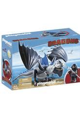 Playmobil Como Entrenar a Tu Dragon Drago y Dragón con Armadura 9248