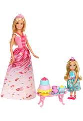 Barbie Chelsea Merienda Princesas Mattel FDJ19