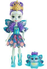 Enchantimals Muñeca y Mascota Pavo Real Mattel DYC76