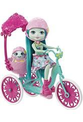 Enchantimals Bambola Con Tartaruga E Bicicletta Mattel FCC65