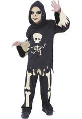 Déguisement Squelette avec des Yeux Mobiles Taille M Rubies S8372-M