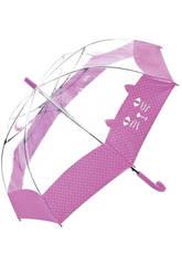 Paraguas Transparente Juvenil 54/8 Bisetti 36170