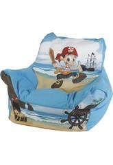Blauer Pirat Puff Sessel