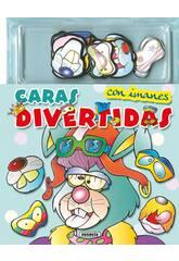 Caras Divertidas Con Imanes ... (2 Libros) Susaeta Ediciones