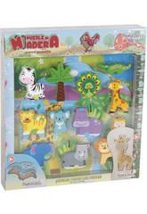 Puzzle en Bois Safari 12 Pièces