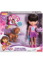 Dora avec Chiot Mattel CGT65-2