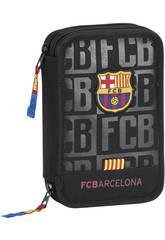 Plumier Double Petit 34 pièces F.C. Barcelone Safta 411725054