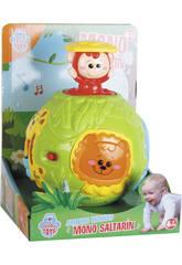 Ballon Activités avec Singe Sauteur Lumières et Sons 13 cm Diamètre