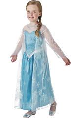 Déguisement Fille La Reine des Neiges Elsa Deluxe T-M Rubies 630574-M