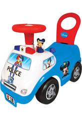 Cavalcabile Mickey Polizia Attività Luci e Suoni 35x51x25cm