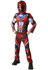 Disfraz Niño Ranger Rojo Movie Deluxe T-S Rubies 630711-S