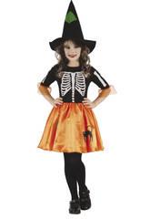Disfraz Niños M Bruja Esqueleto