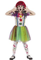 Déguisement Bébé Taille M Clown Sanglant