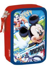 Astuccio Triplo Mickey Face Perona 54369