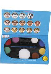 Conjunto Maquillaje Facial Con Pincel 8 Colores y Esponja