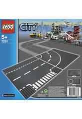 Lego City Plaques de route - Intersection et Virage