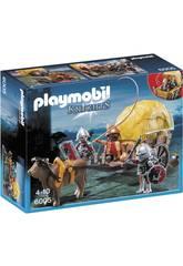 Playmobil- Carro Trappola dei Cavalieri del Falcone