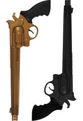 2 Pistole da 36 cm Oro e nero