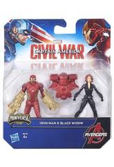 Capitão América Pack 2 Figuras 6 cm Civil War
