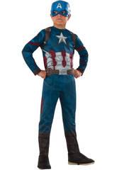 Déguisement Enfant Capitaine América CW Classic T-L