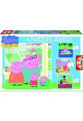 Quebra-cabeça progressivo 6-9-12-16 Peppa Pig