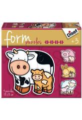 Puzzle Pour Enfant Form Vache Diset 69954