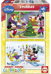 Puzzle 2X48 Mickey Mouse Club House