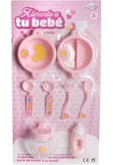 Babypuppe Fütterungszubehör Set