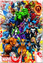 Puzzle 500 Héroes Marvel