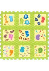 Tappeto Puzzle Animali e Numeri