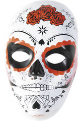 Máscara Calavera Katrina Rosa de Día Muertos Rubies S3186