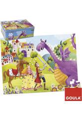 Puzzle 54 pièces prince et dragon
